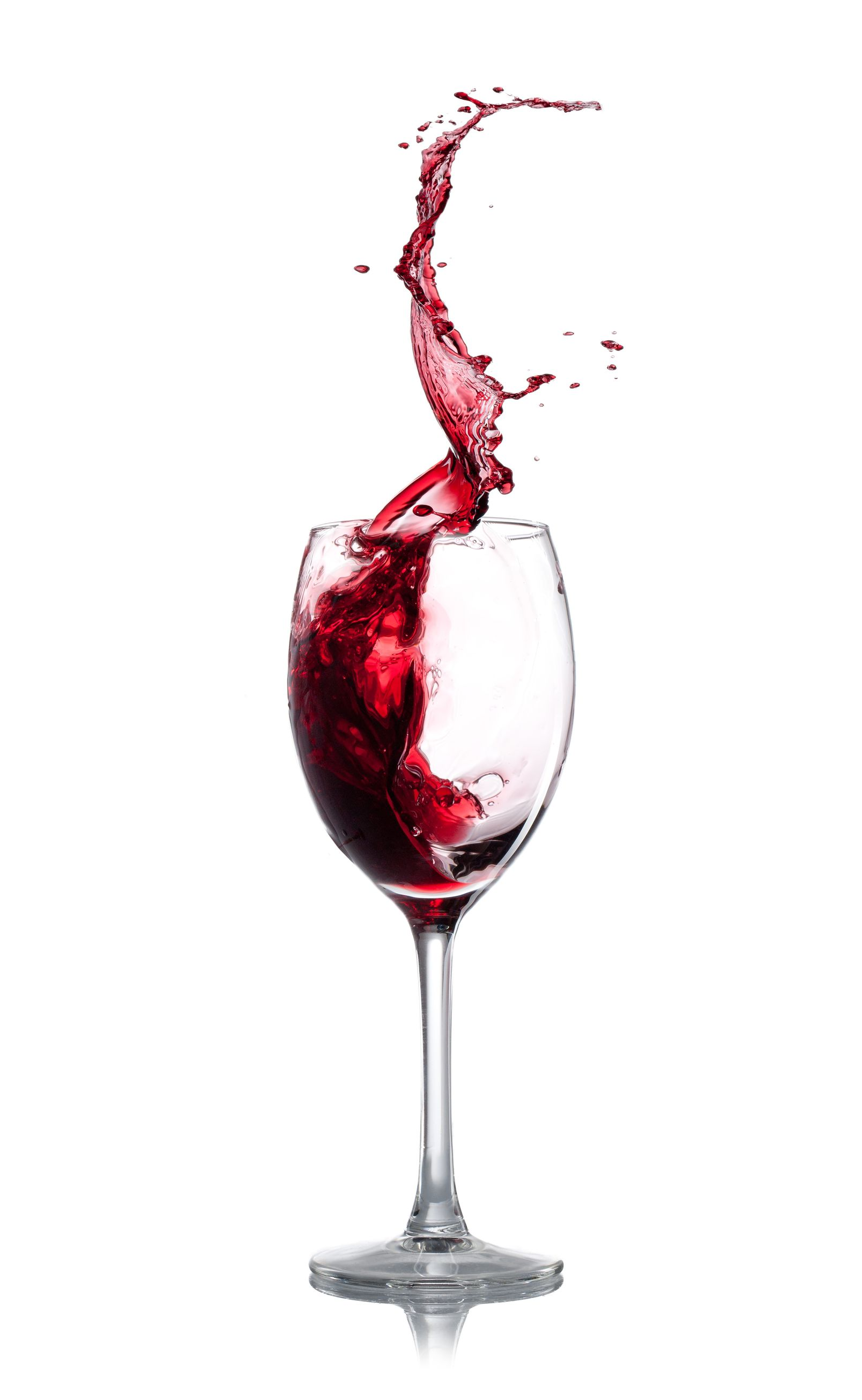 18060213 – red wine splash over white background